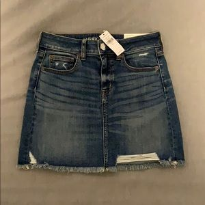 High Waisted Denim Mini Skirt